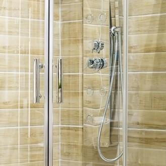image of clean shower door